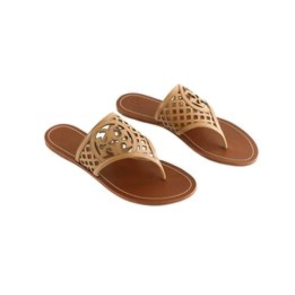 5141fee9d Tory Burch Thatched Perforated Logo Sandal